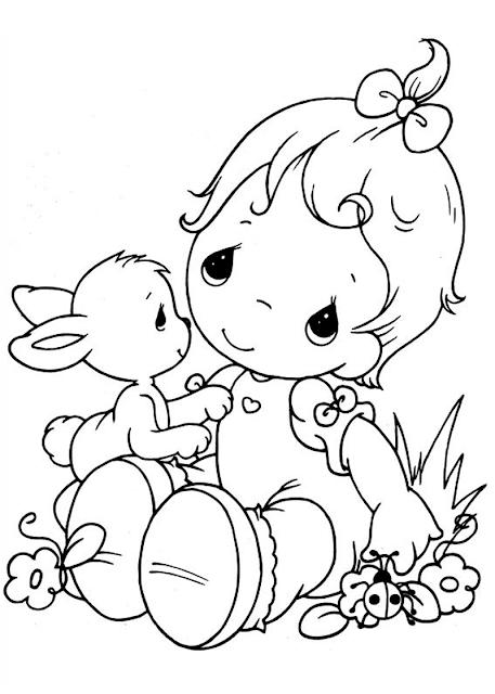 Gambar Mewarnai Bayi - 7
