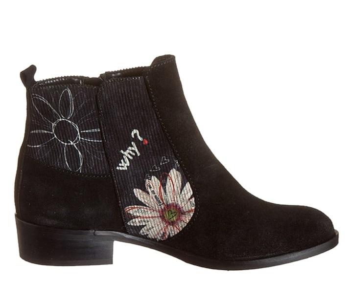 Desigual botki sztyblety Floria, buty z motywem kwiatowym, hiszpańska marka, netstylistka
