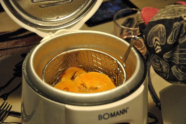 Süßkartoffel frittieren
