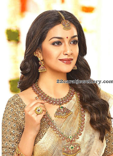 Keerthi Suresh in Mango Mala and Nacklace