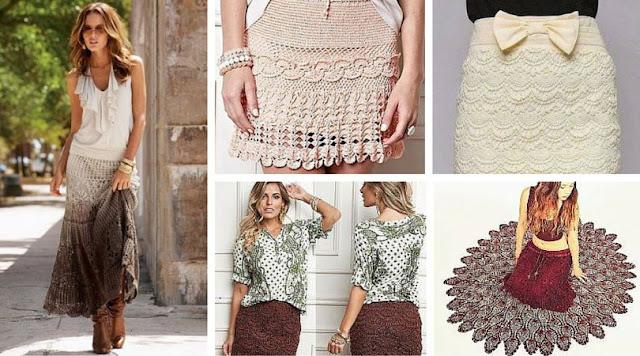 44 Increíbles Faldas a Crochet o Ganchillo | Patrones para Descargar