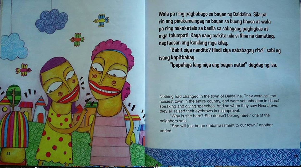 the collections  si nina sa bayan ng daldalina