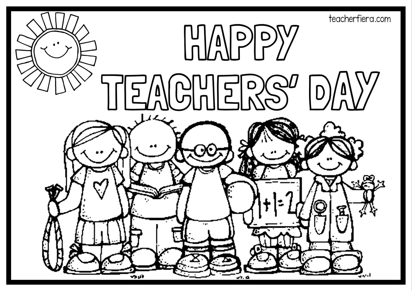 Teacherfiera Happy Teachers Day Colouring