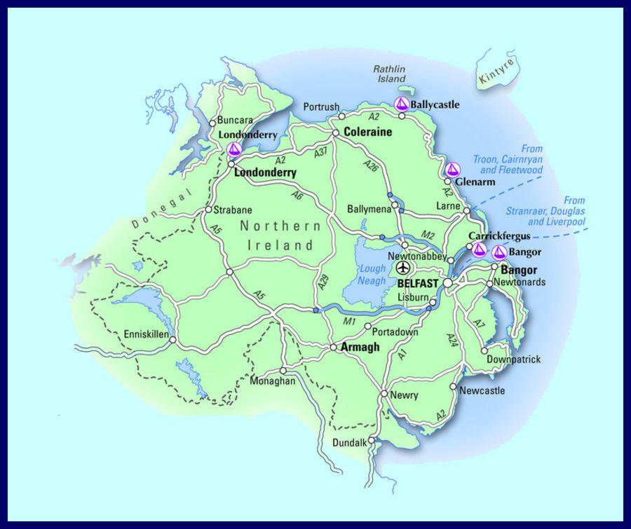 map of belfast ireland