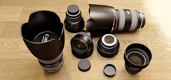 Wide range of lenses types