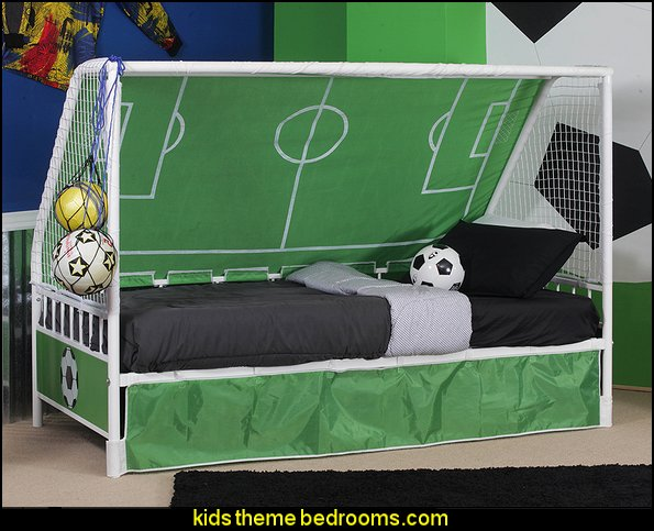 Home Goalie Daybed  Sports Bedroom decorating ideas -  Wrestling theme bedroom decorating - boxing theme bedrooms - martial arts - skateboarding theme bedrooms  - football - baseball - basketball theme bedrooms - basketball bedding - golf theme bedrooms - hockey bedding - theme beds sports