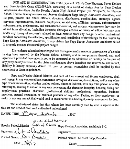 The Turner Report Neosho Superintendent Signed Non Disparagement