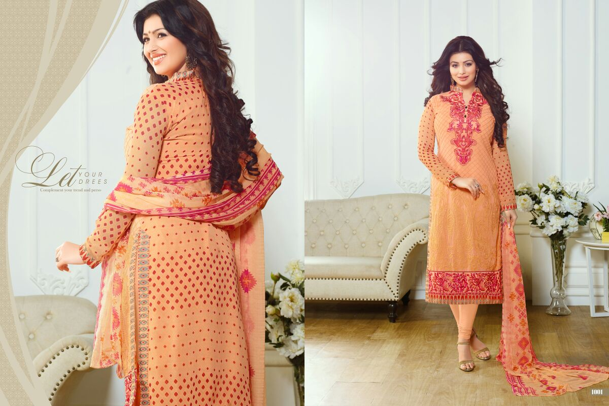 Mohey Vol 1 – Ayesha Takia New Collection Of Straight Cut Salwar Kameez