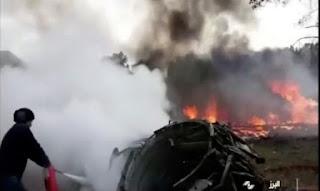 Pesawat Kargo Militer Iran Jatuh, Belasan Awak Tewas