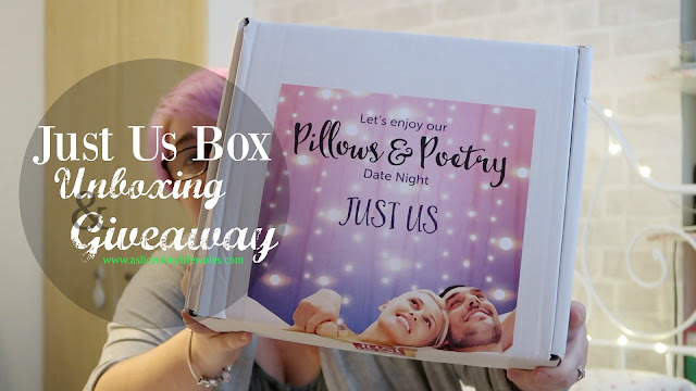 Just Us Box Date Subscription Box UK - Pillows & Poetry Themed - Unboxing Video & a competition to win your own JustUsBox - Giveaway