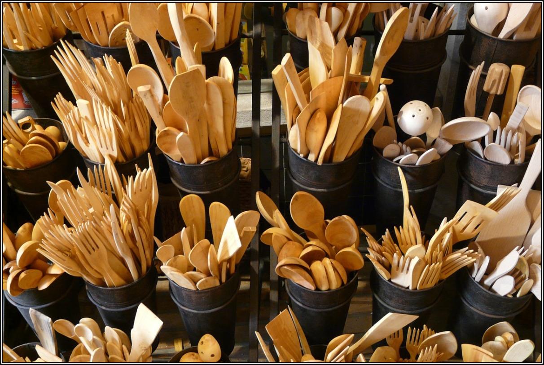 Utensilios de cocina confeccionados con madera de boj