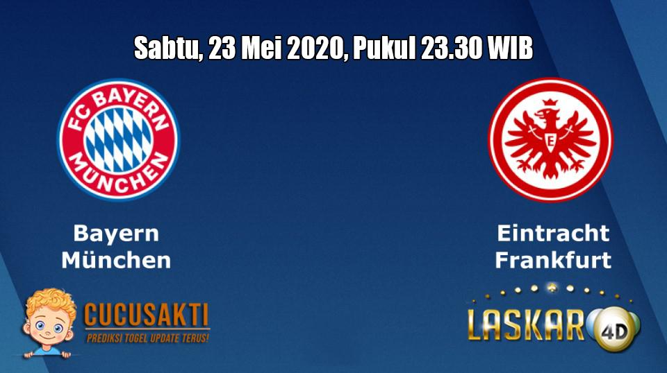 Prediksi Bayern München VS Eintracht Frankfurt 23 Mei 2020