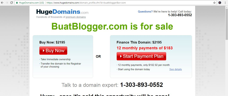 domain buatblogger.com yang diparkir