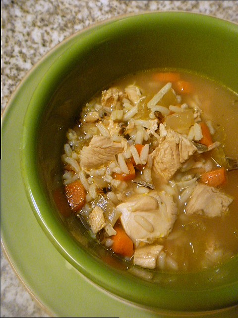 11 Healthy Soups: Chicken and Wild Rice Soup - Slice of Southern