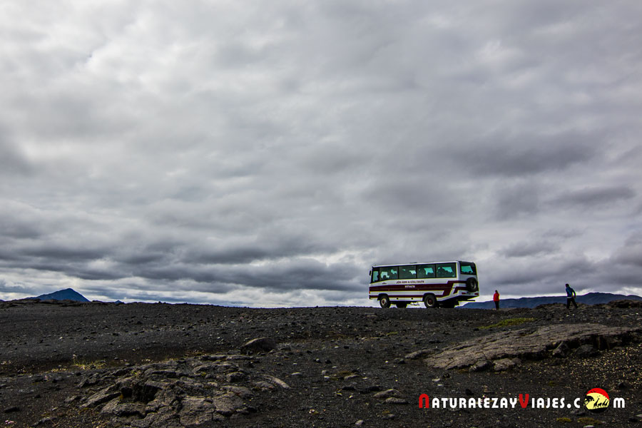 Bus 4x4 de Myvatn Tours, Islandia