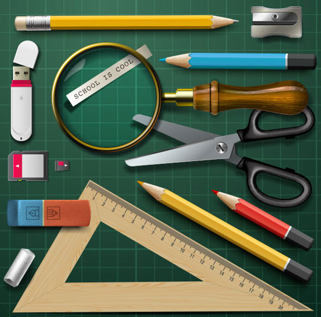 vector_school_design_elements_set