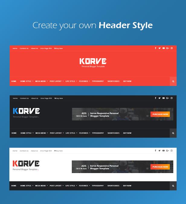 Korve - Personal Blogger Template - 4