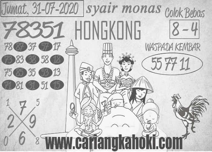 Kode syair Hongkong Jumat 31 Juli 2020 231