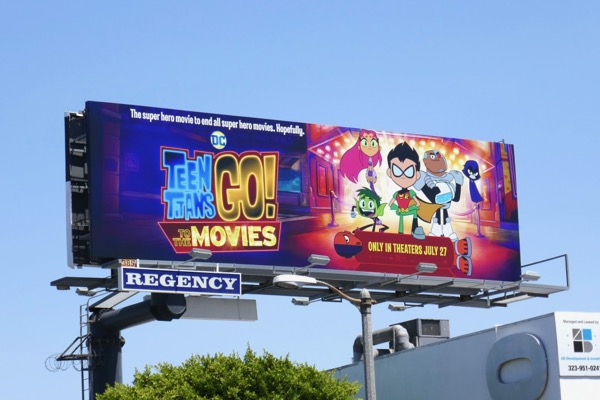 Teen Titans Go to Movies billboard