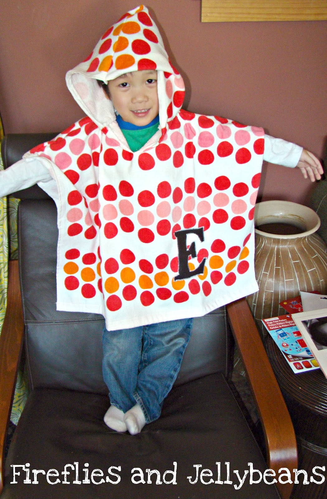 Fireflies And Jellybeans Hooded Poncho Beach Towel Tutorial