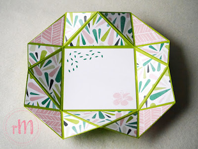 Stampin' Up! rosa Mädchen Kulmbach: Stamp Impressions Blog Hop: It's all about the cards - Fun folds – Napkin Fold Card mit Tropenflair