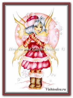 Cross stitch chart «KAM 1605 Pink Wishes - artwork by Karen Middleton»