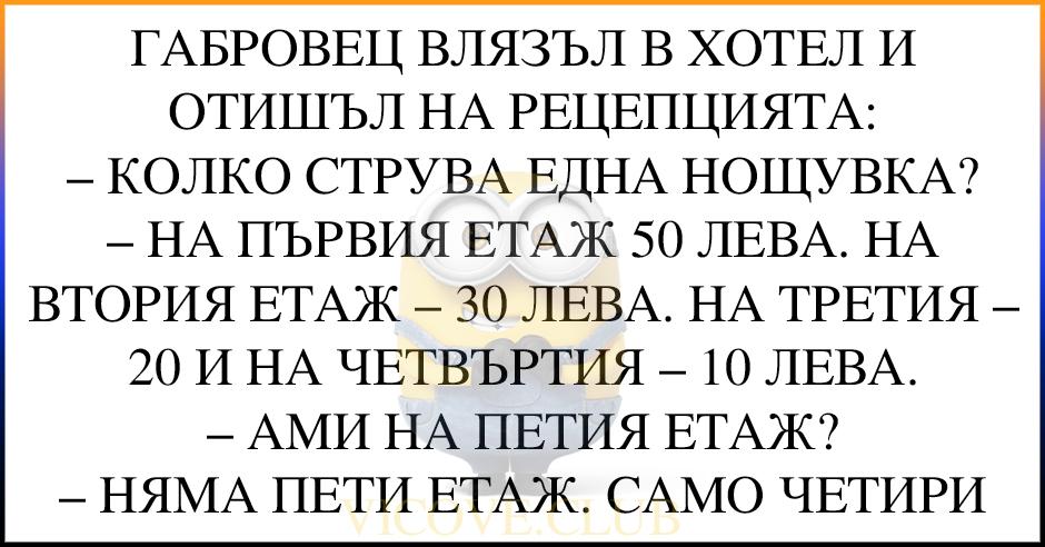 (БРУТАЛЕН ВИЦ) ГАБРОВЕЦ ВЛЯЗЪЛ В ХОТЕЛ
