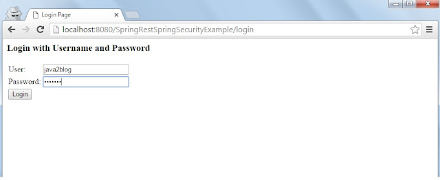 Spring Rest security login