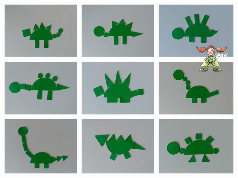 Construimos Dinosaurios Los dinosaurios geométricos de bill nguyen. superpt