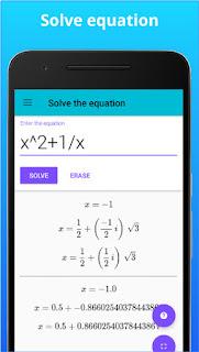 تحميل أفضل آلة حاسبة علمية متطورة للاندرويد Math Solver