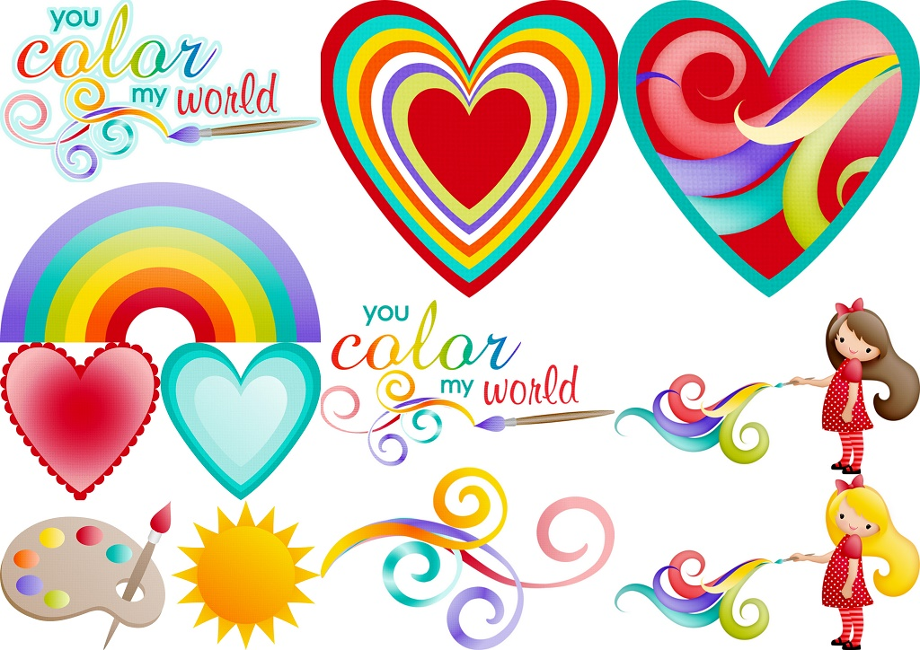 Charming You Color My World Clip Art. Amazing Ideas