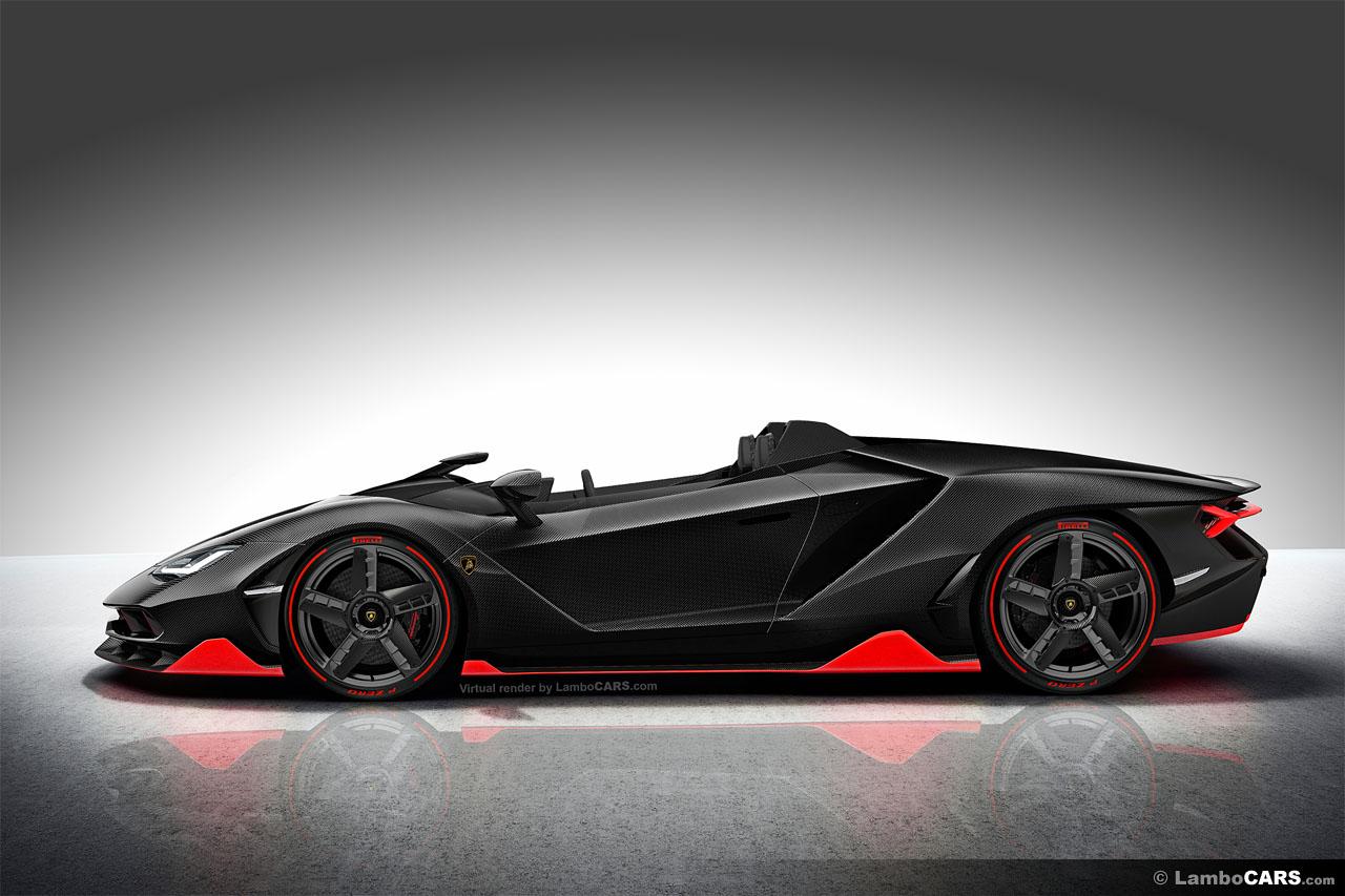 Lamborghini Centenario Roadster Lp770 4 Renderings Look Fantastic