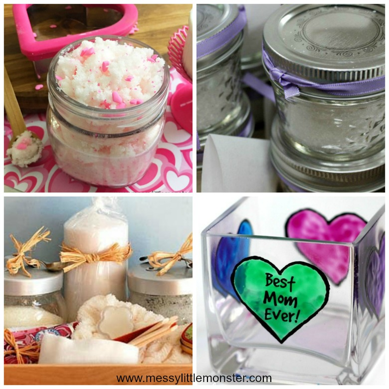Homemade gifts for mom from kids - easy diy pamper gift ideas that kids can make.