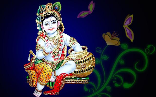 Best Latest Lord Krishna Bal Gopal  Wallpaper
