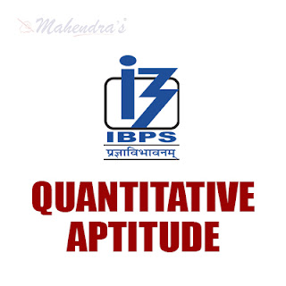 Quantitative Aptitude Questions For IBPS Clerk Prelims : 01 - 12 - 17