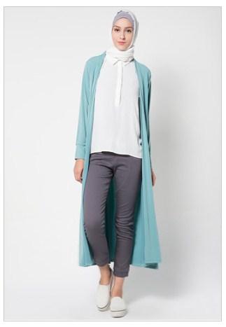 20 Model Baju Muslim Rompi Panjang Modern Terbaru 2017