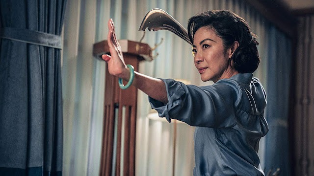 michelle yeoh with a sword