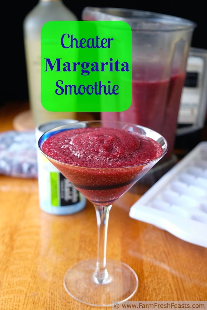 DIY restaurant style fruit margaritas at home--simply blend your fruit with a prepared margarita mix and ice. And for the kids--blend limeade with fruit and ice for a nonalcoholic smoothie.