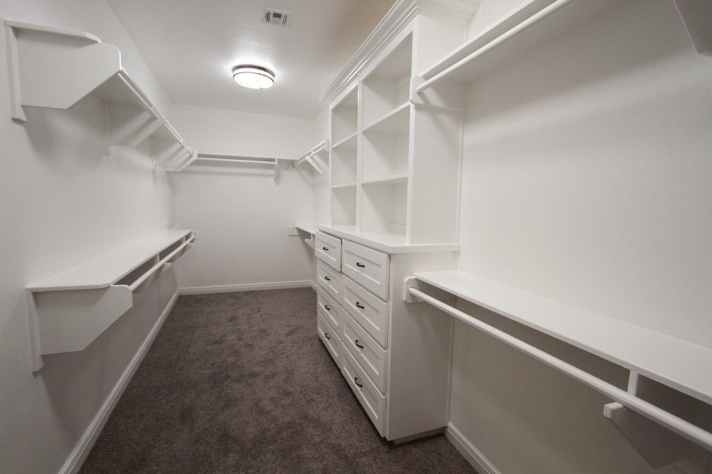 Neutral gray and white master bedroom interior | via monicawantsit.com