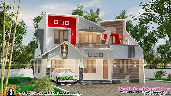 Beautiful contemporary home in Kerala