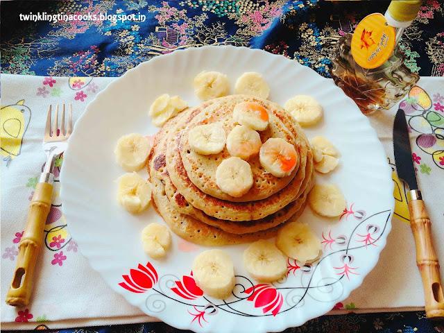 oats pancake, oats banana pancake, pancake recipe, gluten free pancake recipe, oats banana blender pancake, easy pancake recipe