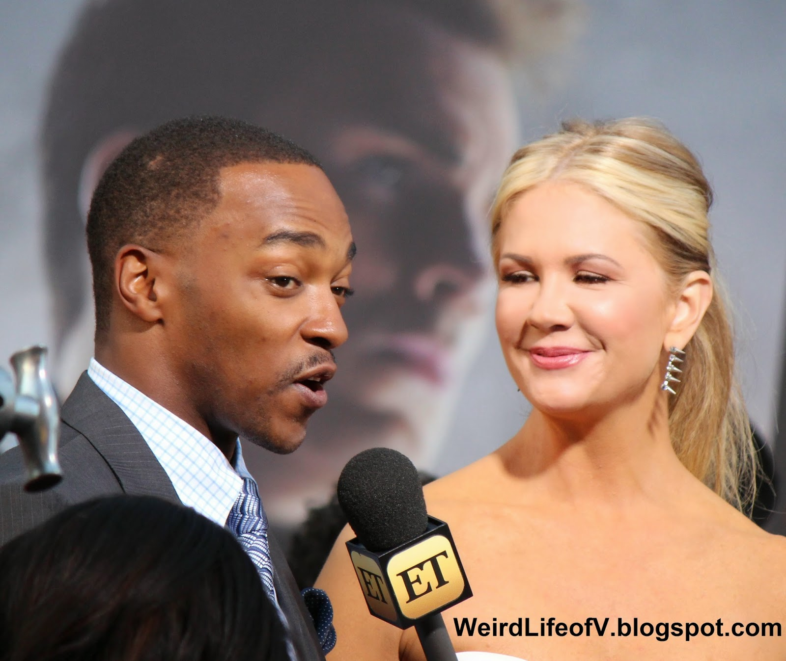 Anthony Mackie with Nancy O'Dell