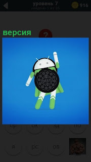 Изображение символа андроид, представлена одна из версий