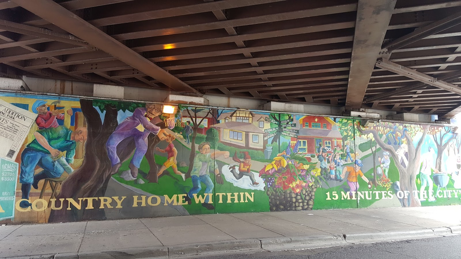 The chicago real estate local an old irving park mural for Mural in chicago illinois