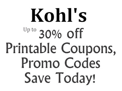 Kohl's Printable Coupon January 2016, February 2016