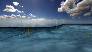 World's first floating wind farm
