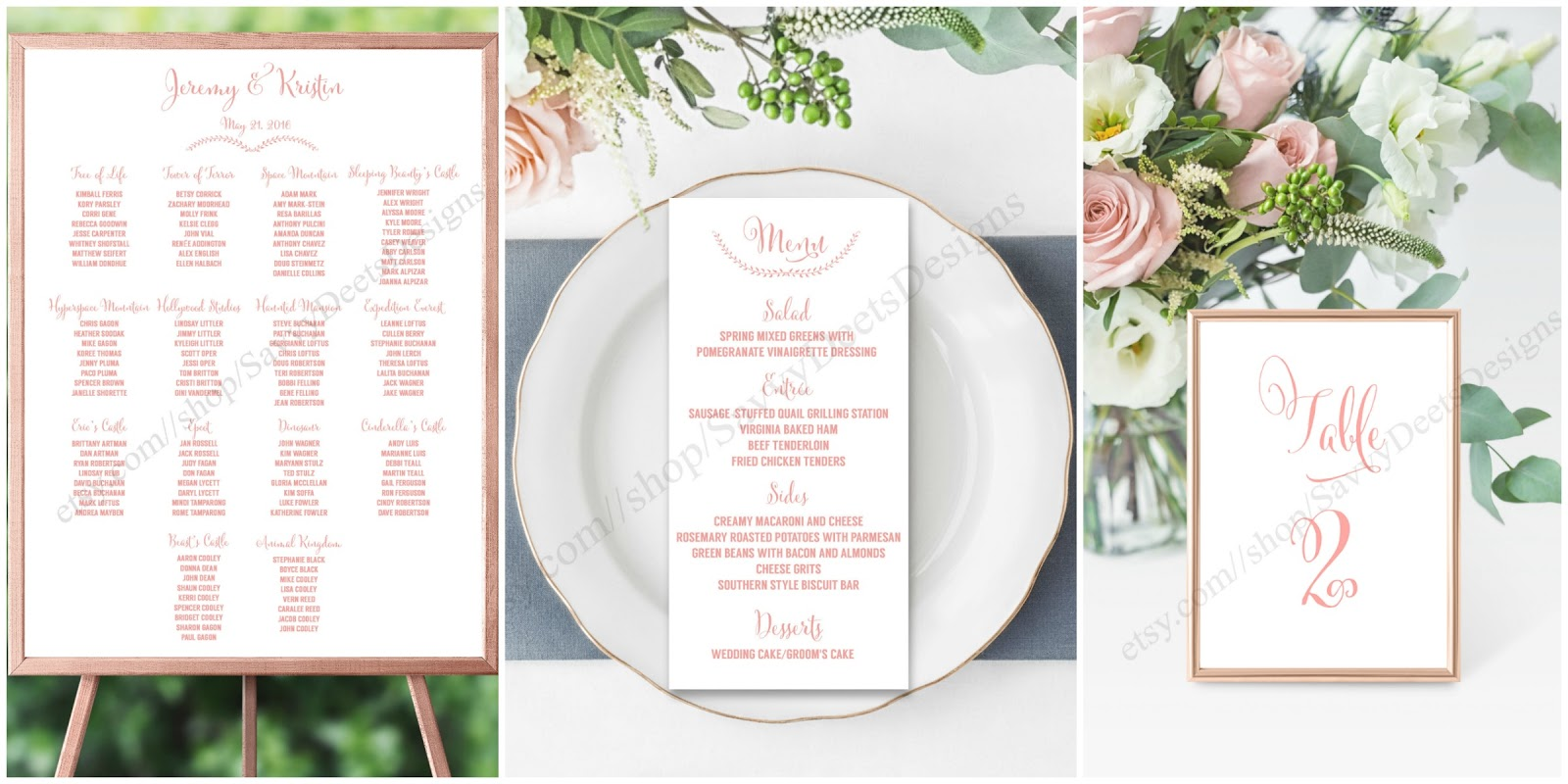 Savvy Deets Bridal The Rose Gold Collection Seating Chart