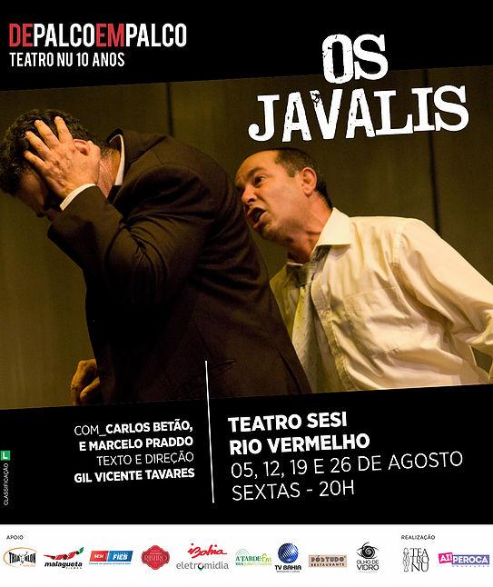 Os Javalis no Teatro do SESI Rio Vermelho