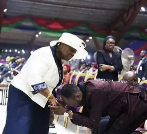 Apostle Suleiman with Pastor Adeboye