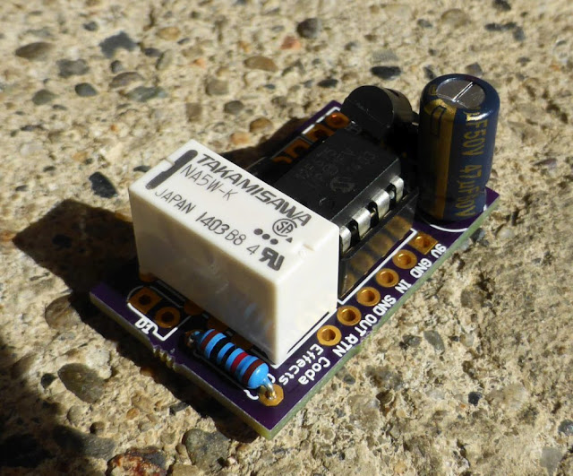 Relay Bypass Pedal DIY Soft Switch PCB